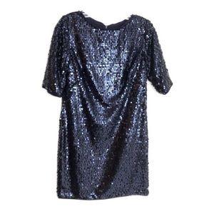 Rachel Rachel Roy Liza Blue Sequin Mini Dress 2
